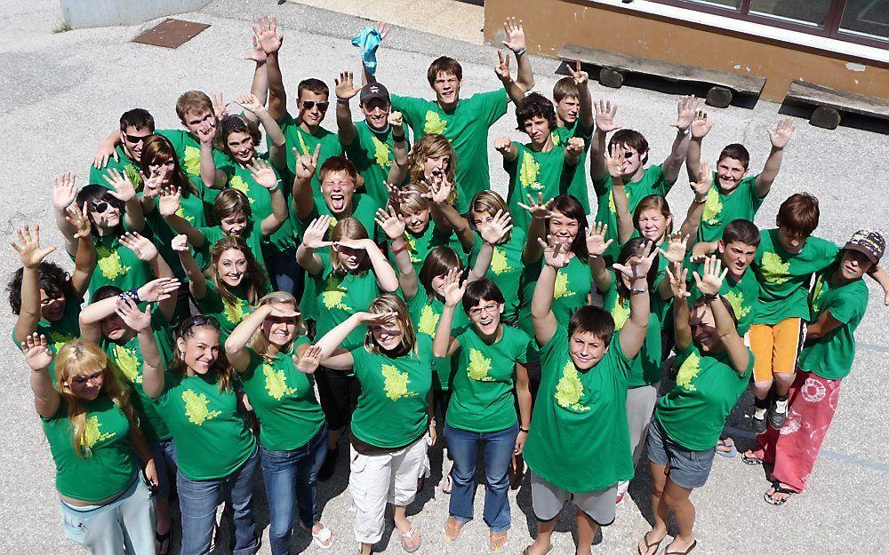 Jongeren op het zomerkamp dat de Forjans' organiseren. Foto ECM.