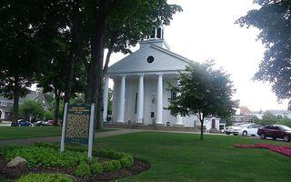 De Pillar Church, die door ds. Van Raalte in 1856 in gebruik werd genomen. Foto RD