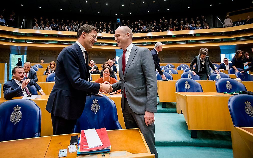 Rutte en Segers, beeld ANP, Bart Maat.