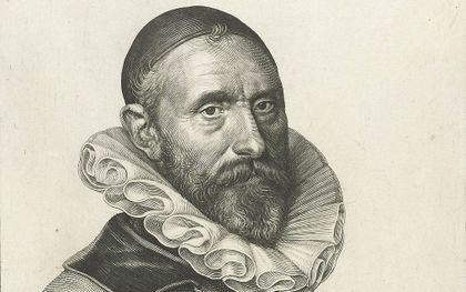 Jan Pieterszoon Sweelinck. Kopergravure van J. Müller uit 1624. beeld Wikimedia
