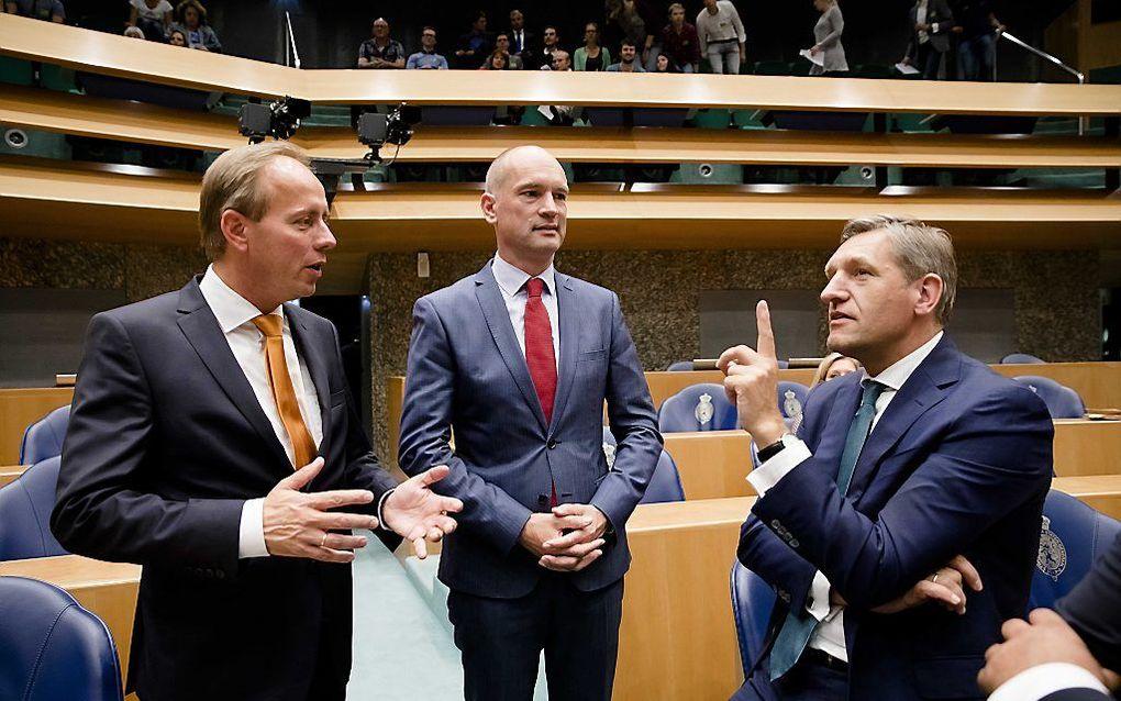 Van der Staaij, Segers en Buma. beeld ANP