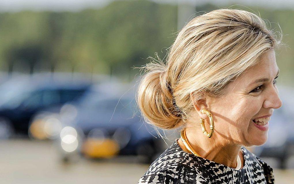 Koningin Máxima  bij aankomst in Katwijk. beeld ANP