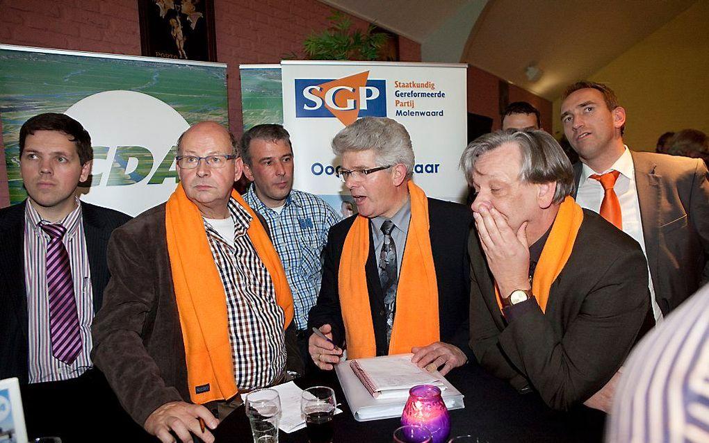 De SGP werd tijdens de gemeenteraadsverkiezingen in 2012 de grootste partij in de toen nieuwe gemeente Molenwaard. beeld ANP, Arie Kievit