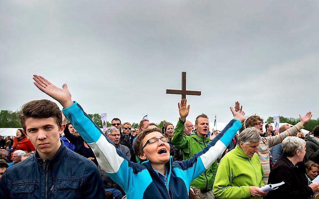 De Vrije Universiteit (VU) start per 6 maart een onderzoeksplaats voor de charismatische beweging in Nederland. beeld Robin van Lonkhuijsen