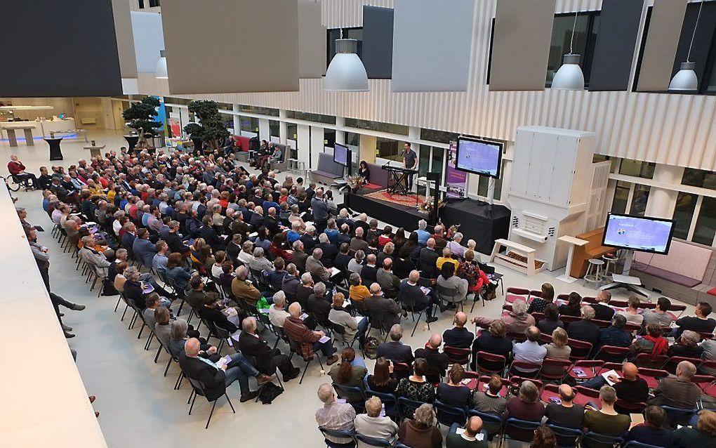 """De werkconferentie """"Geloven in mensen"""", zaterdag in Ede, trok zo'n 450 belangstellenden. beeld RD"""