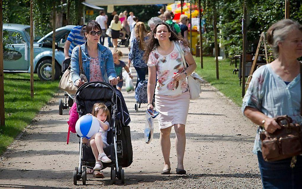 De reformatorische gezinsbeurs Naar Buiten in Barneveld vorig jaar. beeld RD, Henk Visscher