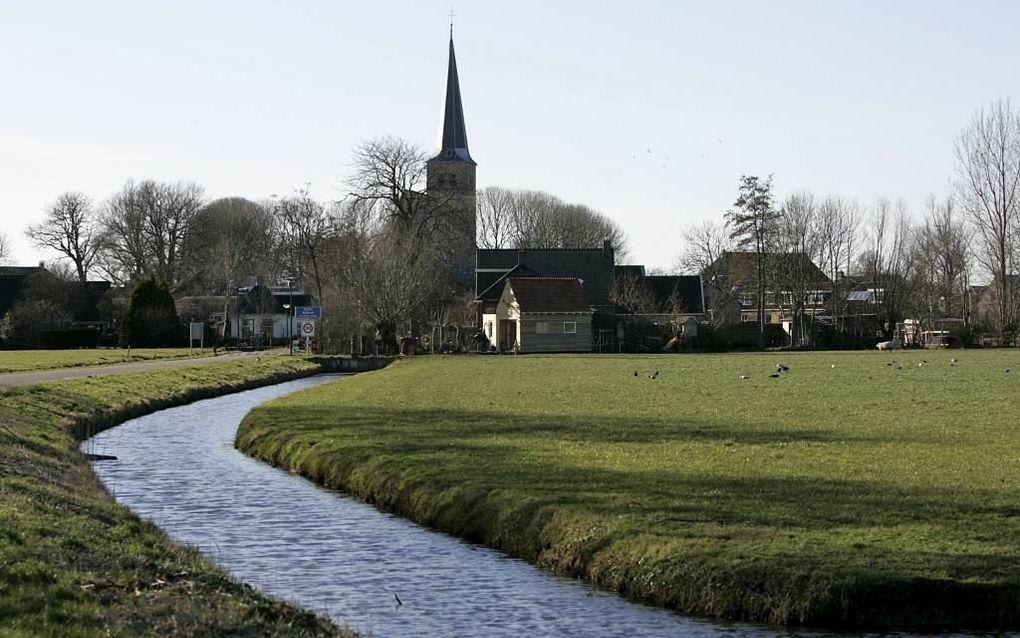 Het kerkeiland van het Friese dorp Nijland. beeld Sjaak Verboom