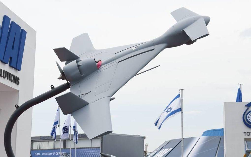 TEL AVIV. De door Israël geproduceerde kamikaze-drone Harop werd deze week voor het eerst boven Nagorno Karabach ingezet. beeld  Julian Herzog