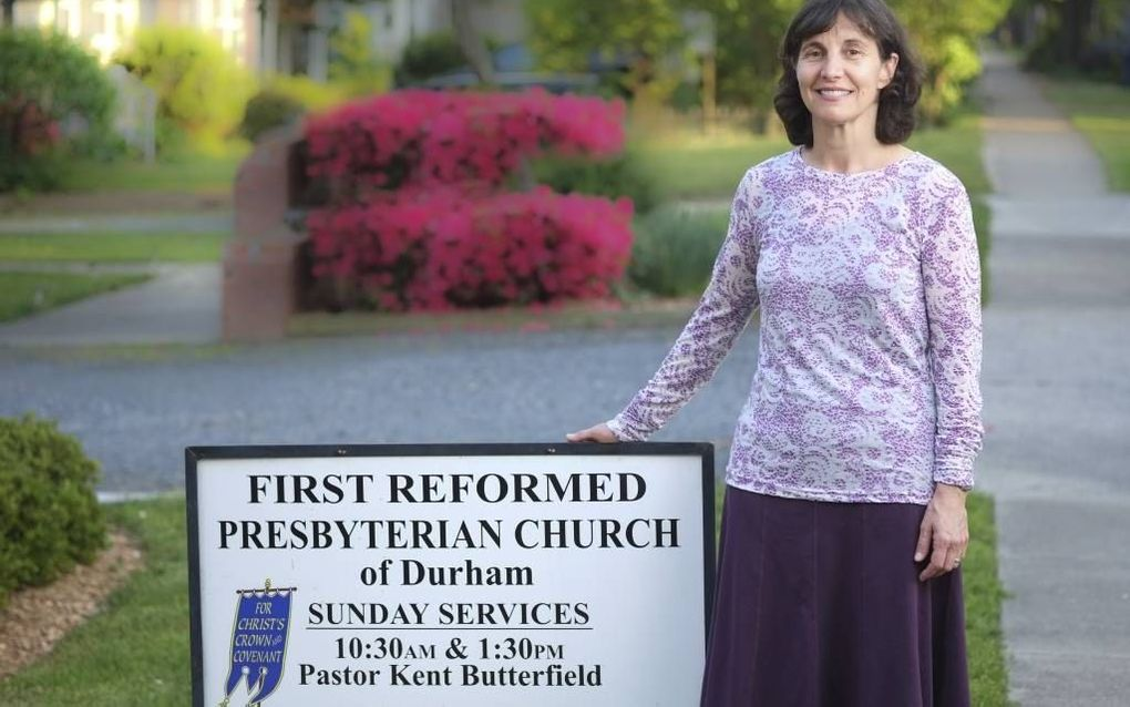 Rosaria Champagne Butterfield is getrouwd met een predikant van een presbyteriaanse gemeente in North Carolina.  beeld Chris Townsend