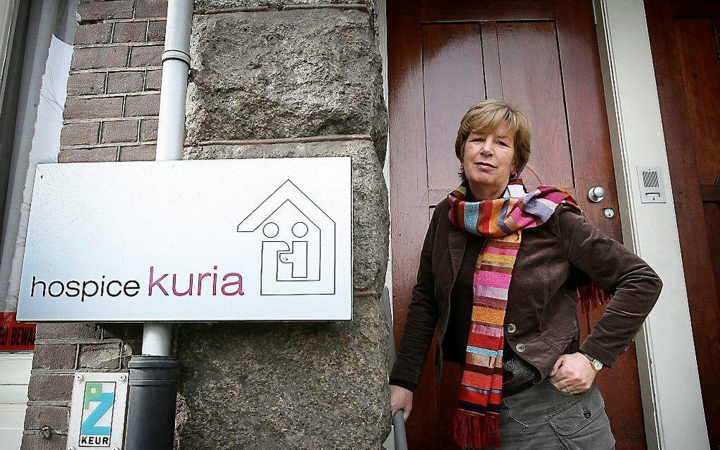 Oprichter en directeur Corry van Tol-Verhagen van Hospice Kuria. Foto RD, Henk Visscher