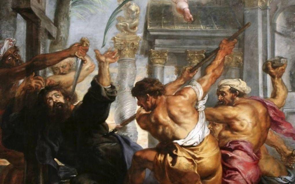 Marteling van de apostel Thomas door Peter Paul Rubens.  beeld Wikimedia
