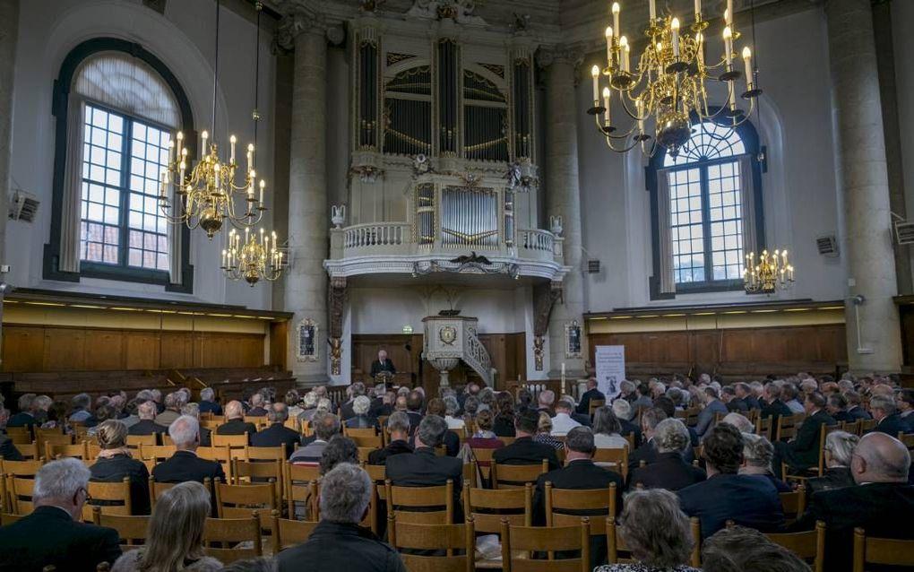 In de Middelburgse Oostkerk had zaterdag een -drukbezocht- congres plaats over persoon en werk van ds. Bernardus Smijtegelt. Beeld Dirk-Jan Gjeltema