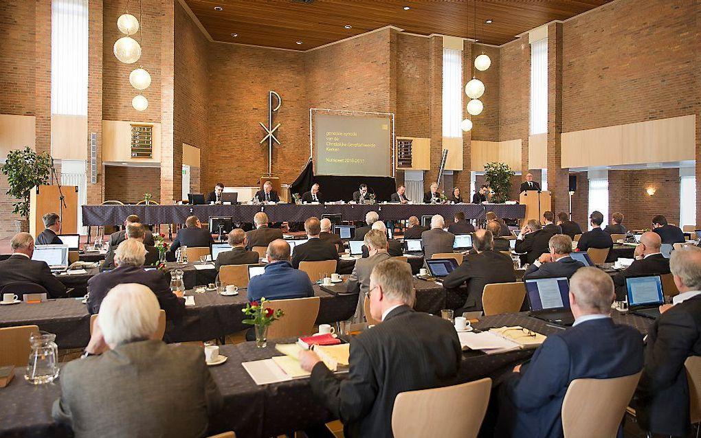 Generale synode 2017 van de Christelijke Gereformeerde Kerken. beeld RD, Henk Visscher