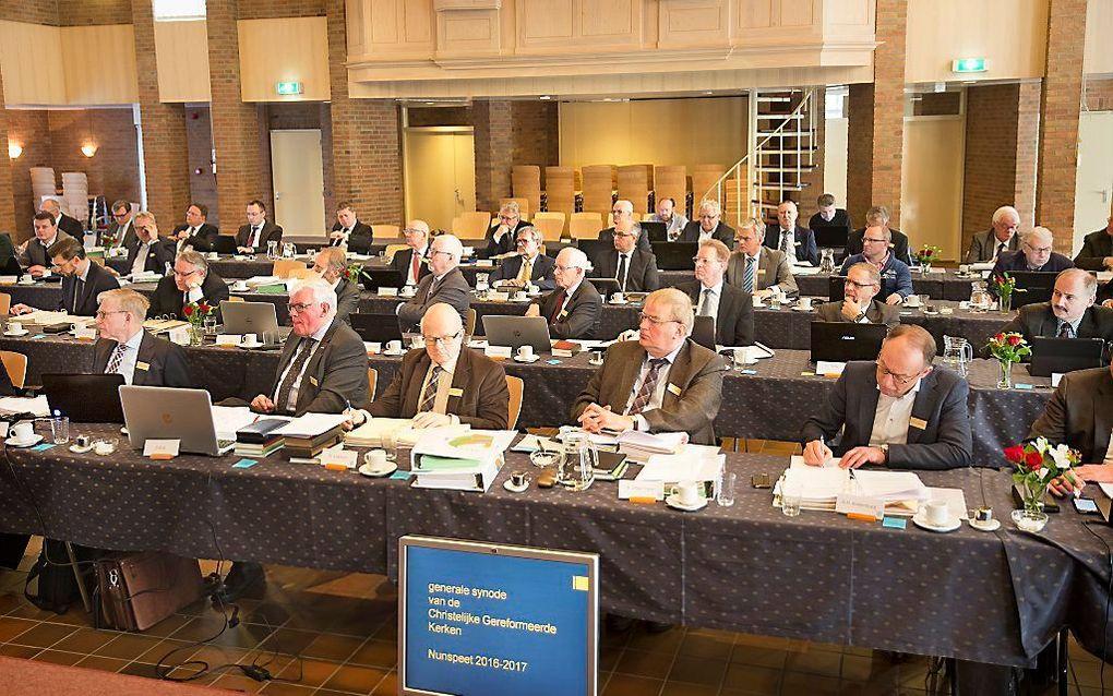 De synode van de CGK, dinsdag in Nunspeet. beeld RD, Henk Visscher