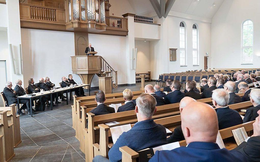In Lunteren vond zaterdag de landelijke toogdag van de hersteld hervormde mannenbond plaats. beeld Niek Stam