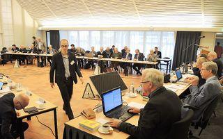 De GKV-synode kwam vrijdag bijeen in conferentieoord Mennorode in Elspeet. beeld RD