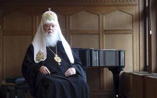 De Oekraïense patriarch Filaret pleit voor een Europese toekomst voor zijn land. beeld RD, Evert van Vlastuin