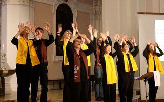 Duitse doven 'zingen' een geestelijk lied. Foto egg-bayern.de