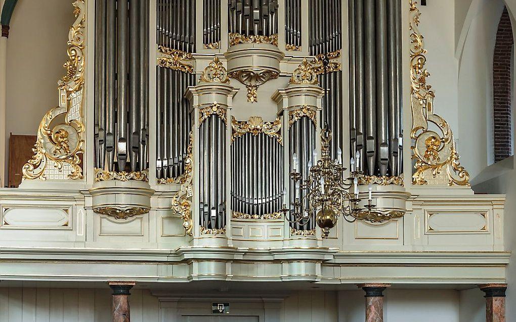 Het Van Damorgel in de Oude Kerk in Ede. beeld Oude Kerk Ede