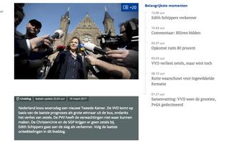 Nederland ging op 15 maart naar de stembus. De webredactie van RD.nl hield gedurende een aantal dagen een liveblog bij.
