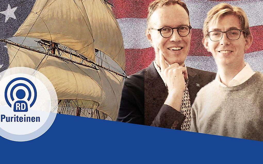De hosts van de podcastserie:: Albert-Jan Regterschot (l) en Steven Middelkoop (r). beeld RD