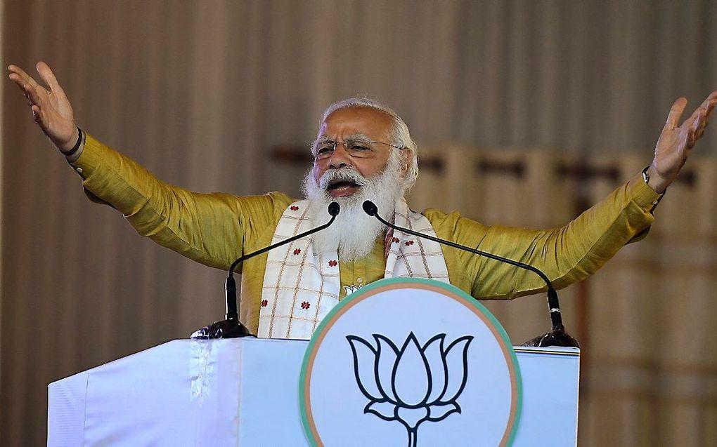 Premier Modi van India. beeld EPA, Pranabjuoti Deka