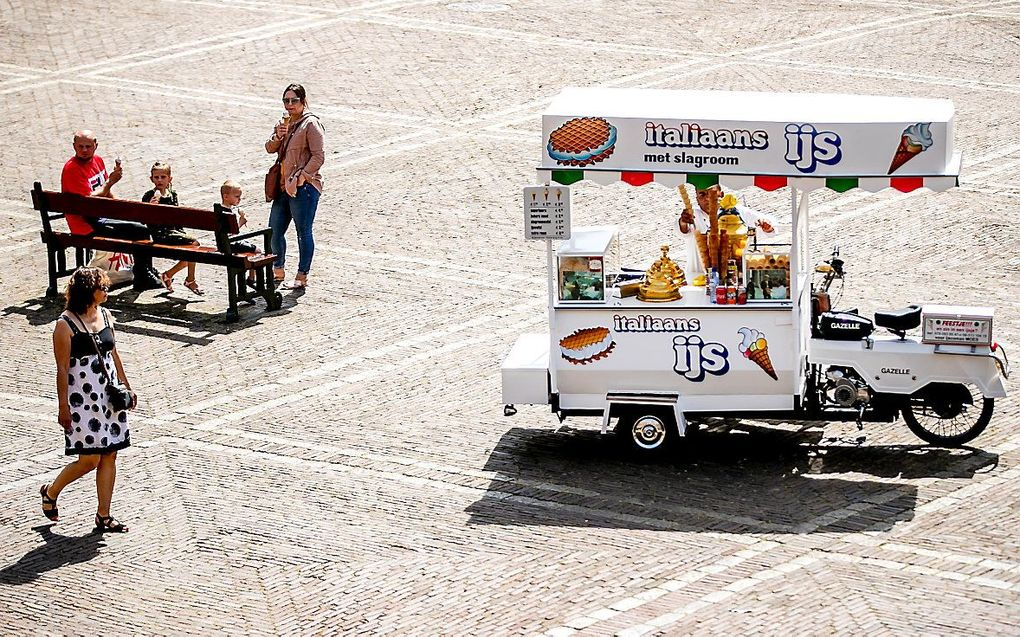 Zomerse taferelen op het Binnenhof. beeld ANP, Remko de Waal