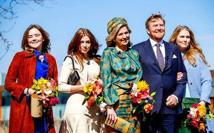 Het koninklijk gezin dinsdag in Eindhoven.beeld ANP, Koen van Weel