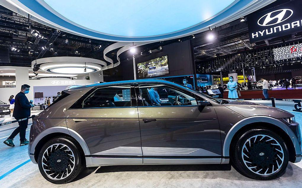 De Hyundai elektrische Ioniq 5. beeld EPA, Alex Plavevski