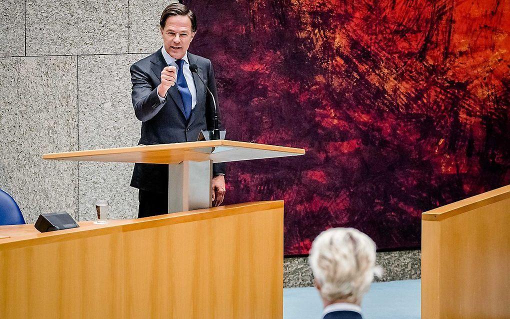 Rutte en Wilders. beeld ANP, Bart Maat
