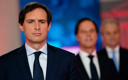 Wopke Hoekstra van het CDA voorafgaand aan het RTL Verkiezingsdebat van 2021. beeld ANP, Bart Maat