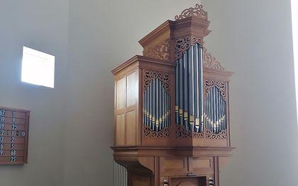 Het orgel in de hersteld hervormde gemeente van Emst-Epe. beeld hhg Emst-Epe