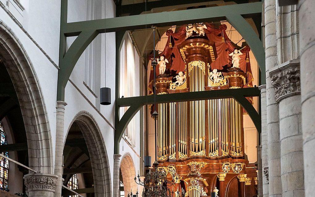 Het Moreauorgel in de Sint-Janskerk in Gouda. beeld RD, Anton Dommerholt