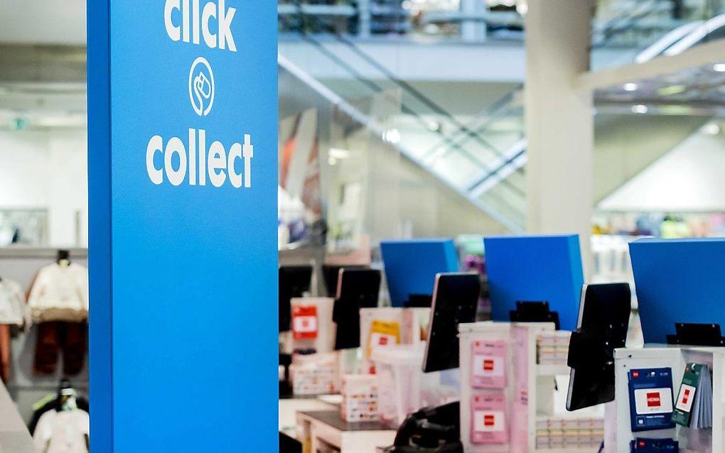 Bestellen en ophalen bij de winkel. beeld ANP