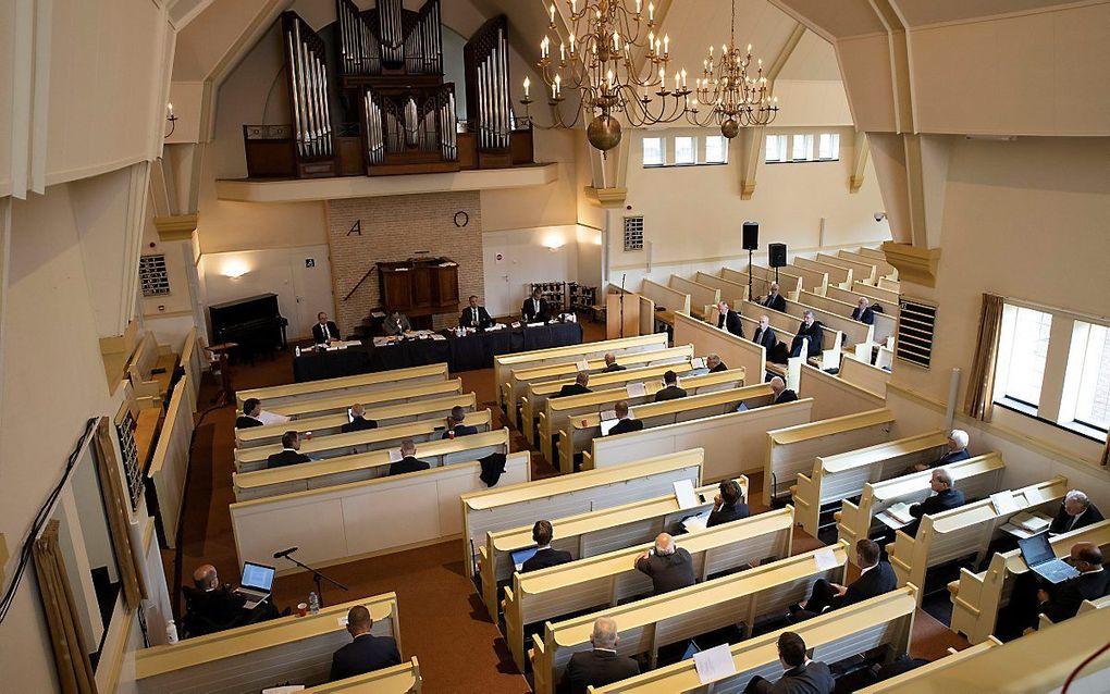 De generale synode van de Christelijke Gereformeerde Kerken vergaderde in september 2020 in de Nunspeetse Dorpskerk. beeld RD, Anton Dommerholt