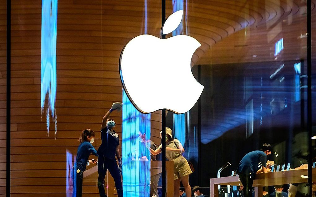 Apple-store in Bangkok. beeld AFP, Mladen Antonov