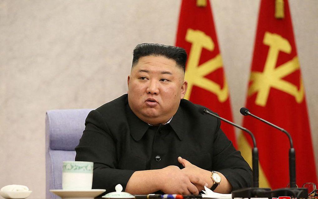 De Noord-Koreaanse leider Kim Jong-un. beeld AFP