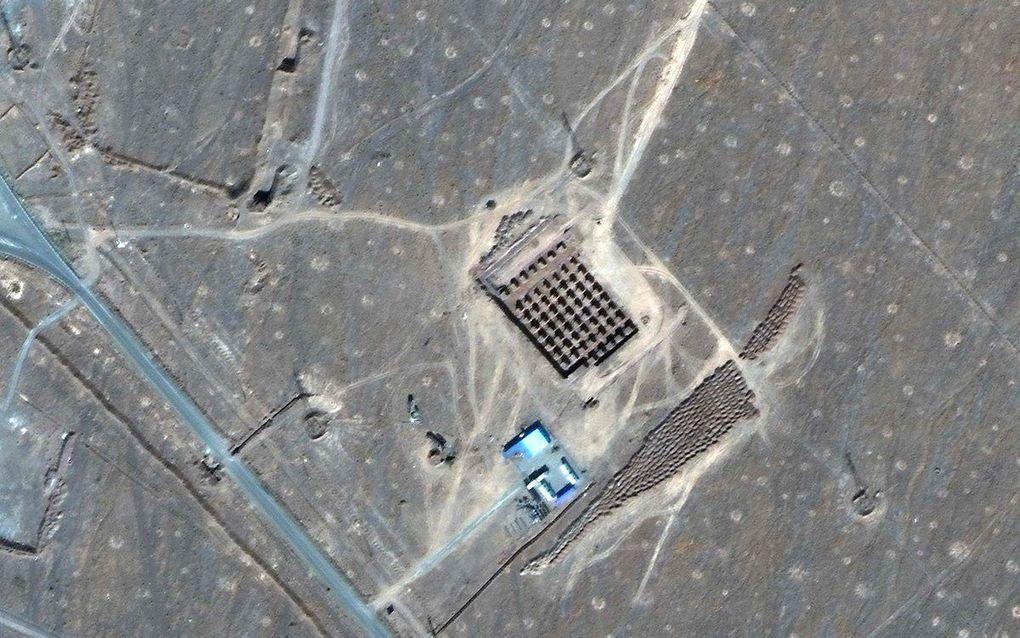 Iraans nucleair complex in de buurt van de stad Qom. beeld AFP
