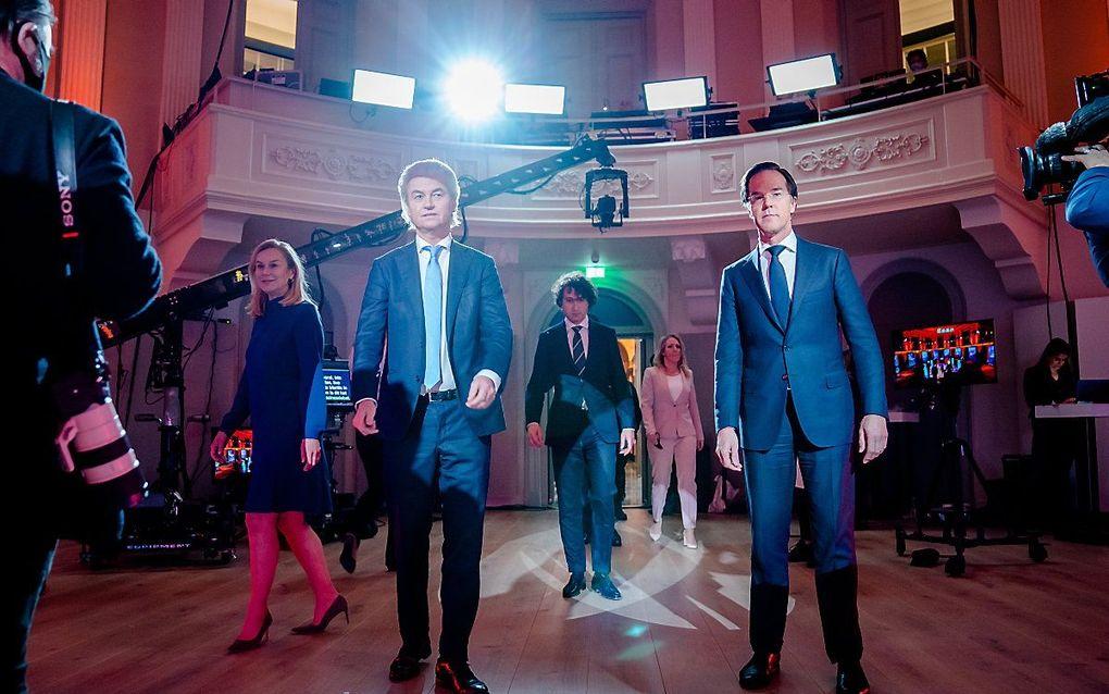 Verkiezingsdebat RTL. beeld ANP, Bart Maat