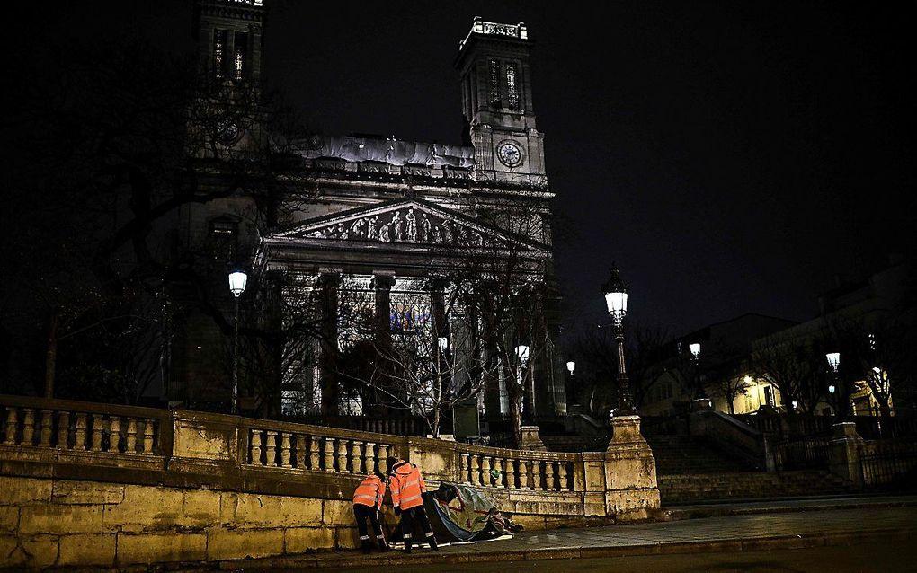 De Saint-Vincent-de-Paulkerk in Parijs. beeld AFP, Christophe Archambault