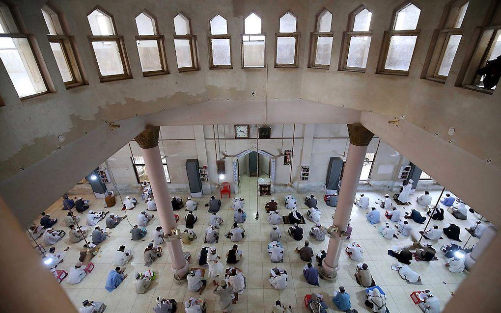Een islamitische school in Karachi, Pakistan. beeld EPA, Shahzaib Akber