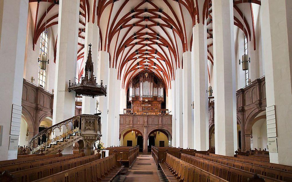 Interieur van de Thomaskirche in Leipzig. beeld RD. Henk Visscher