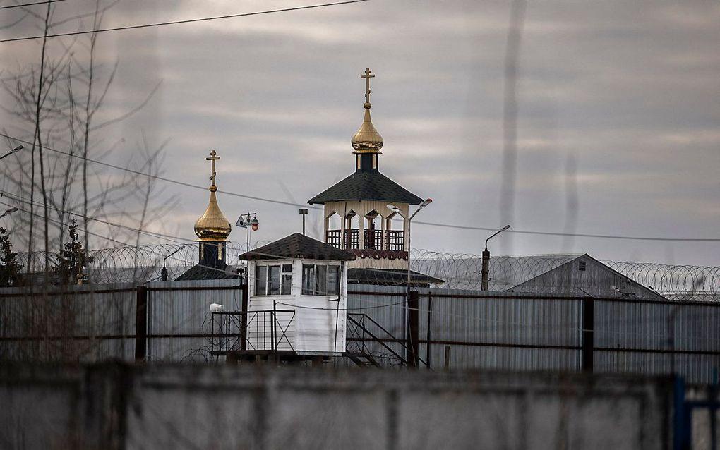 De gevangenis waar Navalni verblijft. beeld AFP, Dimitar DILKOFF