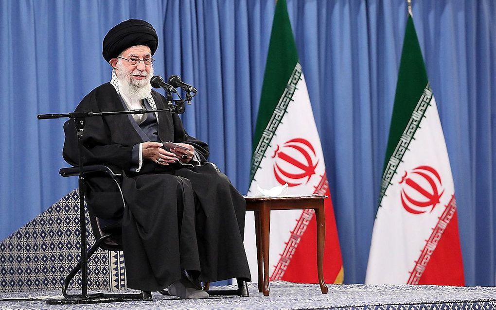 Ayatollah Ali Khamenei, de hoogste leider van Iran. beeld AFP / Hollandse Hoogte