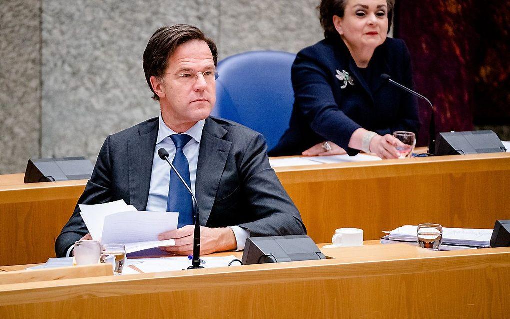 Premier Rutte en staatssecretaris Alexandra van Huffelen. beeld ANP, Bart Maat