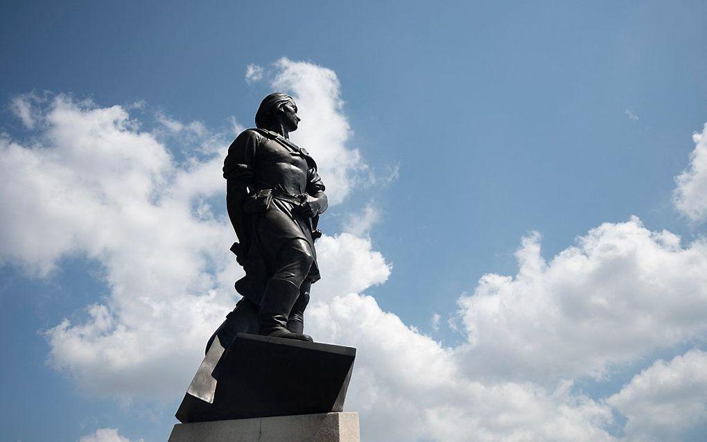 Een beeld van Columbus in New York, VS. beeld AFP, Johannes Eisele