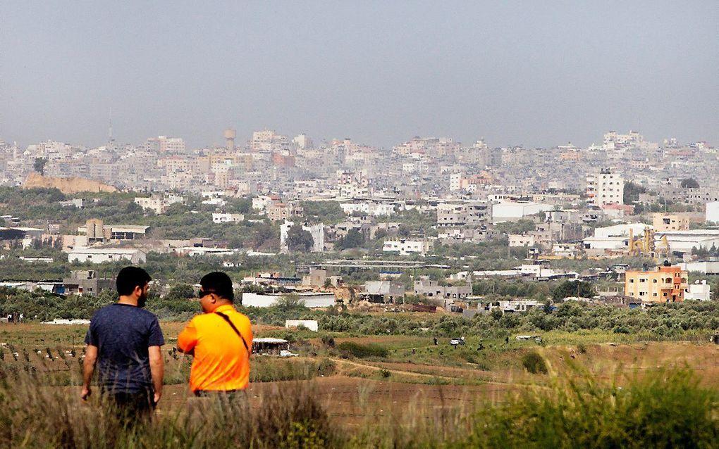 Zicht op Gaza-stad. beeld RD, Henk Visscher