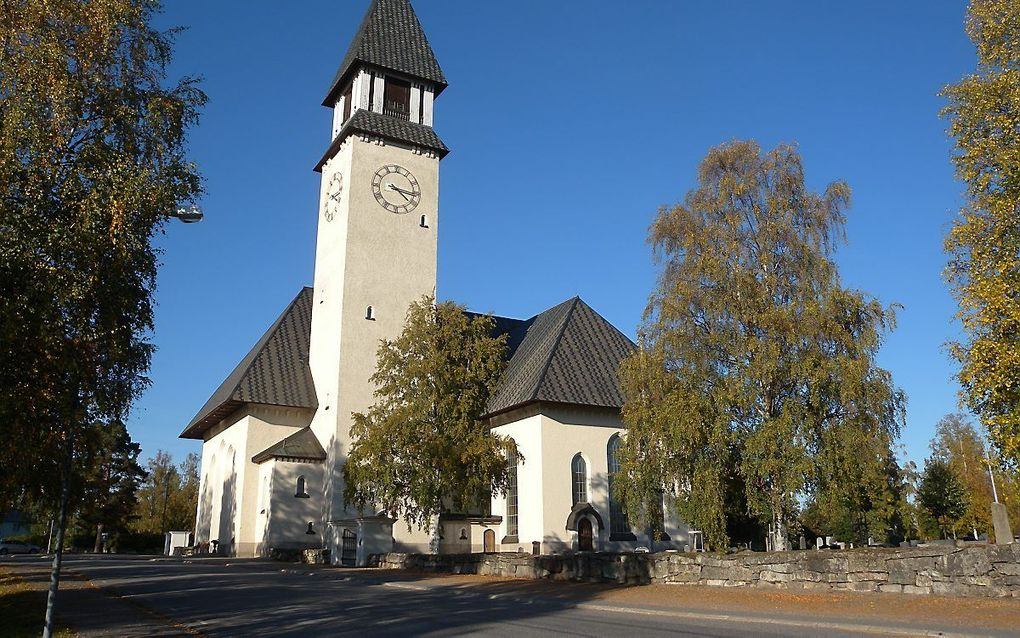 De lutherse kerk in het Zweedse Burtrask. beeld RD