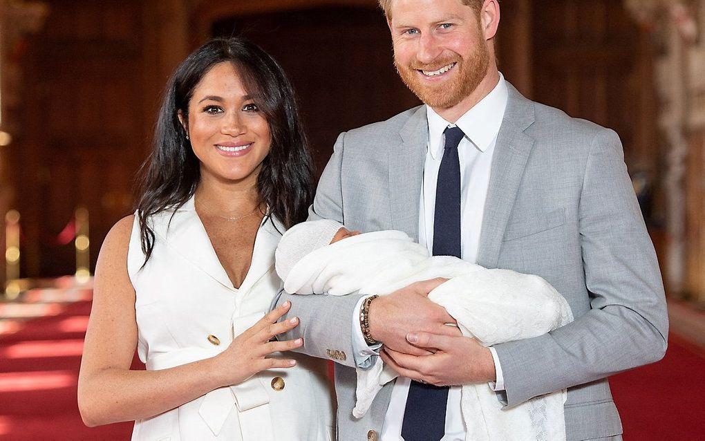 Harry, Meghan en Lilibet. beeld AFP, Dominic Lipinski