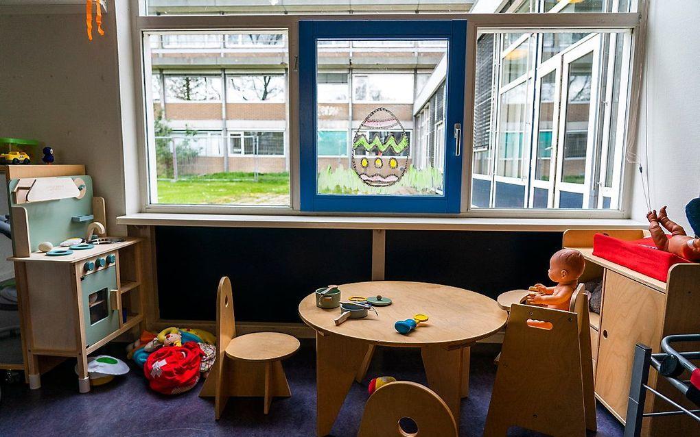 Lege ruimtes op een kinderdagverblijf tijdens de coronacrisis. beeld ANP, Jeroen Jumelet